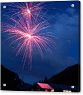 Mountain Fireworks Landscape Acrylic Print