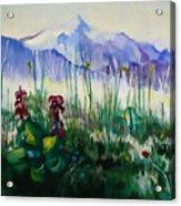 Mountain Flowers Acrylic Print