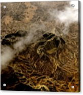 Mountain From The Air Acrylic Print