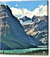Mountain Glacier And Lake  Acrylic Print