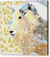 Mountain Goat Collage Acrylic Print