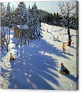 Mountain Hut Acrylic Print by Andrew Macara