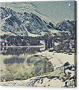 Mountain Lake, California Acrylic Print