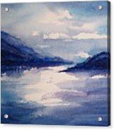 Mountain Lake In Blue Acrylic Print