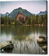 Mountain Lake Under Peaks Acrylic Print