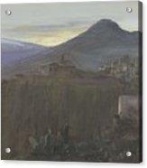Mountain Landscape In Taormina, Sicily, Italy, Bramine Hubrecht, 1865 - 1913 Acrylic Print