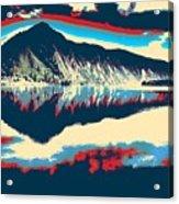 Mountain  Landscape Poster Acrylic Print
