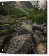 Mountain Landscape With A Creek Acrylic Print