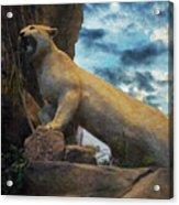 Mountain Lion - Paint Fx Acrylic Print