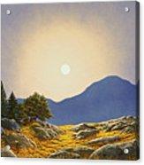 Mountain Meadow In Moonlight Acrylic Print