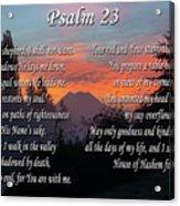 Mountain Morning Prayer Acrylic Print