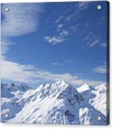 Mountain Panorama Lech Near St Saint Anton Am Arlberg Austria Acrylic Print