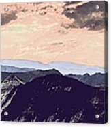 Mountain Range Acrylic Print