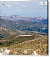 Mountain Range From Mount Evans Summit Acrylic Print