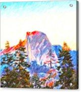 Mountain Range In Yosemite National Park Acrylic Print