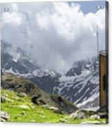Mountain Refuge Of Mount Viso Acrylic Print