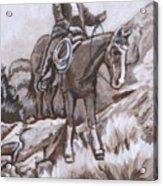 Mountain Ride Historical Vignette Acrylic Print
