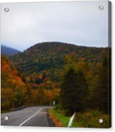 Mountain Road, Killington Vermont Acrylic Print