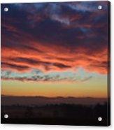 Mountain Road Sunrise 1 Acrylic Print