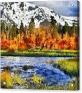 Mountain Acrylic Print by Russ Harris