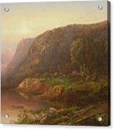 Mountain Scene On The Ohio River Acrylic Print