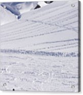 Mountain Skiing Acrylic Print