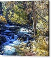 Mountain Stream In Fall Acrylic Print
