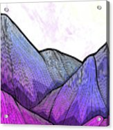 Mountain Texture Acrylic Print