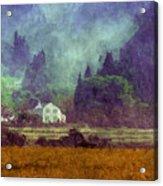 Mountain Valley Home Acrylic Print