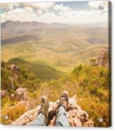 Mountain Valley Landscape Acrylic Print