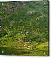 Mountain View In Colorado Acrylic Print