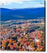 Mountain View Of Easthampton, Ma Acrylic Print