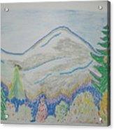 Mountain View.switzerland 1995 Acrylic Print