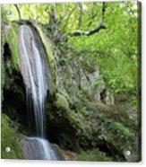 Mountain Waterfall Spring Nature Scene Acrylic Print