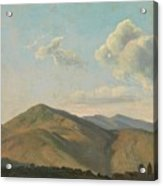 Mountainous Landscape At Vicovaro, Simon Denis Acrylic Print