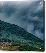 Mountains And Clouds 1350t Acrylic Print