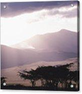 Mountains And Smoke, Ngorongoro Crater Acrylic Print by Skip Brown