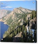 Mountains Around Crater Lake Acrylic Print