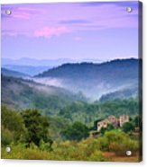Mountains Acrylic Print by Christian Wilt