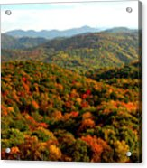 Mountains Of Color Acrylic Print