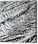 Mountains Patterns. Aerial View Acrylic Print