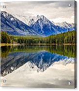 Mountains Reflected In The Lake Acrylic Print