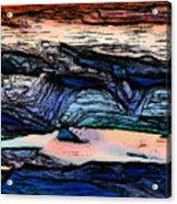 Mountains Valleys And Lake Acrylic Print