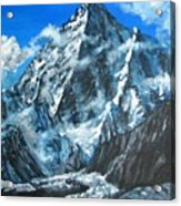 Mountains View Landscape Acrylic Painting Acrylic Print