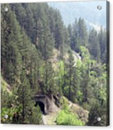 Mountains With Railroad And Tunnels  Acrylic Print