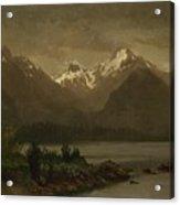 Mountains_and_lake Acrylic Print