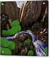 Mountine River Acrylic Print