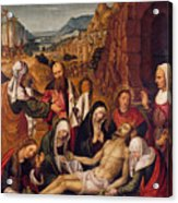 Mourning Over The Dead Body Of Christ Acrylic Print