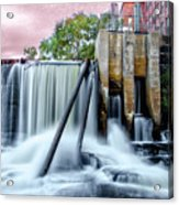 Mousam River Waterfall In Kennebunk Maine Acrylic Print