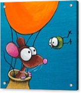 Mouse In His Hot Air Balloon Acrylic Print